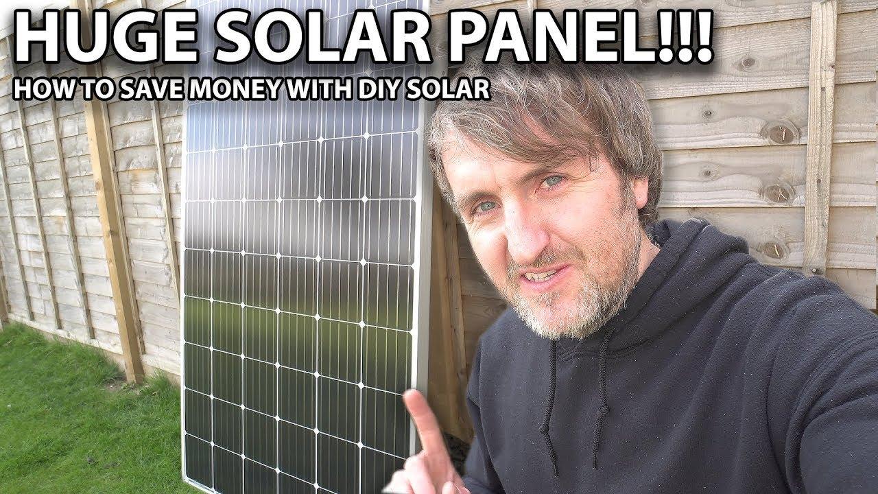 Massive Solar Panel!!!   Save Money With Diy Solar