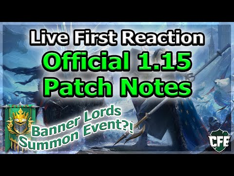 RAID Shadow Legends | OFFICIAL 1.15 PATCH NOTES | LIVE FIRST REACTION