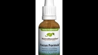 Native Remedies Focus Formula - Boost Your Brain!