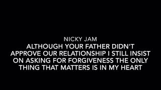 El Perdón-Nicky Jam Ft. Enrique Iglesias (English Lyrics)