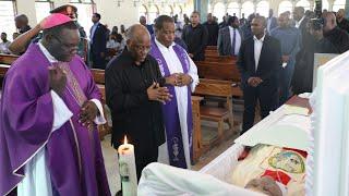 Rais Magufuli Ashiriki Ibada Ya Kuaga Mwili Wa Marehemu Baba Askofu Evaristo Chengula.