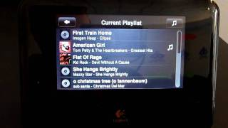 Squeezebox Touch Current Playlist Window
