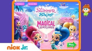 Shimmer and Shine: 'Magical Genie Games' Game Walkthrough | Nick Jr. Games (AD)