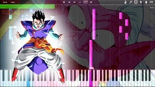 Gohan Powers Up to Mystic Form Theme HQ / Buu Saga (Piano Tutorial) [Synthesia]