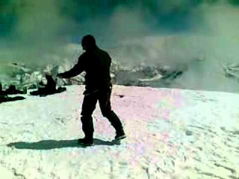 aikido jo kata 31 – at the summit of Mera Central Peak