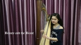 Ariana Grande and John Legend - Beauty and the Beast (harp cover)