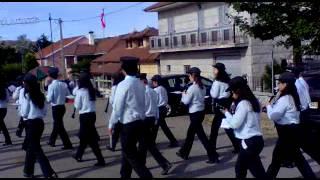 Chegada da Banda Filarmónica de Magueija há Festa da Talhada 2015