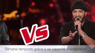 The Voice france la plus belle voix Slimane VS Micheletto