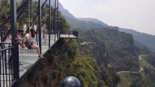 AMAZING 1000ft cliff swing in China