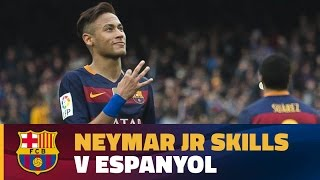 Best Neymar Jr's moments against RCD Espanyol