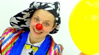 Funny Video for children. Clowns for kids. Le Clown and balloons. Клоун. Смешное видео для детей.