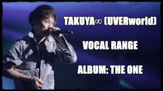 TAKUYA∞ (UVERworld) Vocal Range/ 声域 - Album: THE ONE (2012)