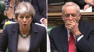 May mocks Corbyn over Czech spy allegations