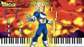 Vegeta Super Saiyan / Final Flash Theme! - Dragon Ball Z OST (Piano Tutorial) [Synthesia]