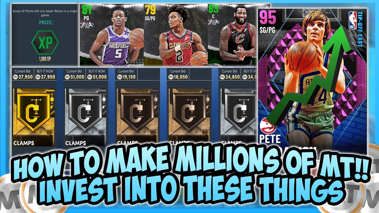 LogicLookss - NBA2K21 - HOW TO MAKE MILLIONS OF MT BY INVESTING INTO THESE CARDS!!! FAST AND EASY MT!!