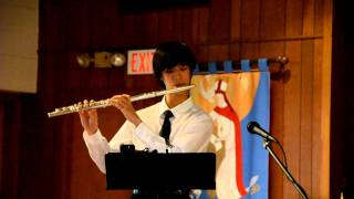 Kevin playing flute 01- Petite Gavotte, by Handel