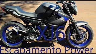 Ronco Yamaha XJ6 com escapamento esportivo Power e original antes depois