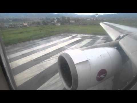 Biman DC-10-30 S2-ACO Takeoff from Kathmandu – Window View
