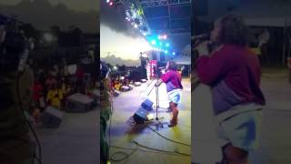 Spring Wata representing live at Rebel Salute 2017..give me roses while am alive mi nuh want them wh