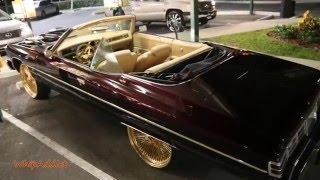 WhipAddict: Brandywine 75' Chevrolet Caprice Convertible on Gold Daytons width=