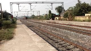 Newly electrified railway from Jharsuguda to Sambalpur in Odisha width=