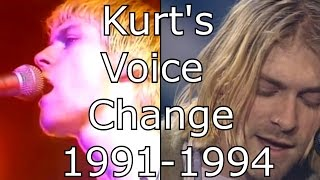 Nirvana - On A Plain - Kurt's Voice Change 1991-1994 (Live Mix)