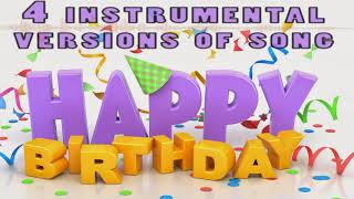 4 various instrumental versions of «Happy Birthday to you». Royalty Free Instrumental Music Pack.