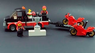 LEGO CITY 60084 STOP MOTION BUILD RACING BIKE TRANSPORTER