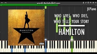 Who Lives, Who Dies, Who Tells Your Story - Hamilton (Synthesia Piano & Vocal Cover) *SHEET MUSIC*
