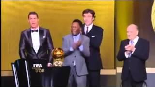 Ronaldo winning Ballon'dor 2013