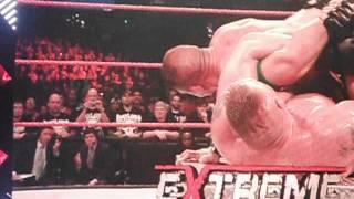 Final Clips of John Cena vs Brock Lesnar at Extreme Rules