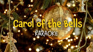 Carol of the bells (instrumental with lyrics - karaoke video)
