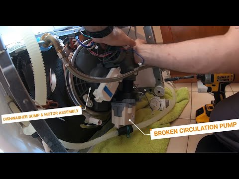 Whirlpool Dishwasher Repair – Pump and Motor Assembly