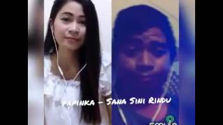 Papinka - Sana Sini Rindu (Rosiana ft hendra nst) - Official Video Smule
