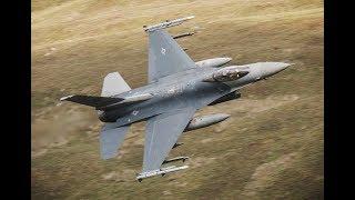 """3 X F-16 USAF   """"BUZZARDS""""   in the Mach-Loop      Bones Flight"""