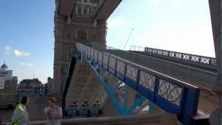 Tower Bridge Opening and Closing, London, England, UK 8/2012