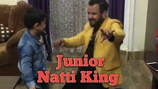 Singer Kuldeep Sharma Dance with Son ( Junior Natti king )!
