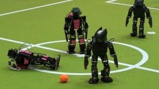 Robot Soccer Goes Big Time