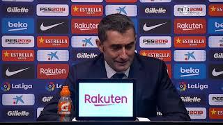 Rueda de prensa de Valverde tras el FC Barcelona vs Sevilla FC (6-1)