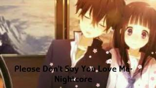 Please Dont Say You Love Me-Nightcore