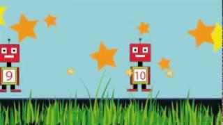 Aprendiendo los numeros con los robots mas dibertidos