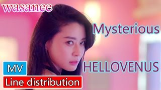 HELLOVENUS (헬로비너스) – Mysterious - Line Distribution (Color Coded MV) | By wasanee