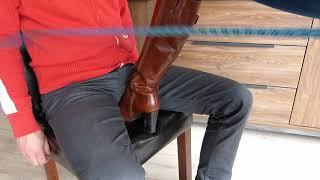 Tan Boots Dominating Man