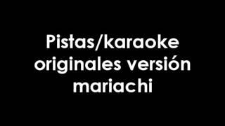 Entonces qué somos Banda El Recodo-Pista/Karaoke original versión mariachi-acústico