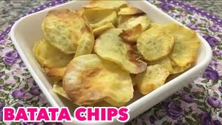 BATATA CHIPS SAUDÁVEL | BATATA DOCE CHIPS - Na Cozinha da Tamy