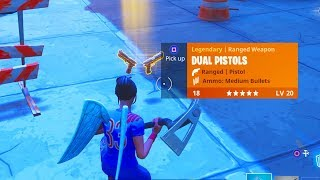 "NEW ""DUAL PISTOLS GAMEPLAY"" LEGENDARY DUAL PISTOLS FORTNITE GAMEPLAY NEW GUNS!"