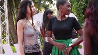 Nina Mire' bikini models training on the red carpet for ASFA 2016