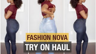FASHION NOVA TRY ON HAUL   HIGH WAISTED JEANS THAT FIT