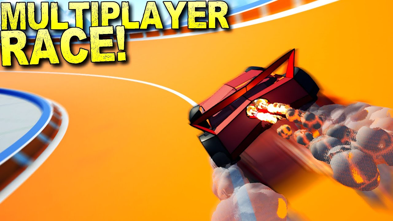 ScrapMan - Building Race Cars for a Crazy Obstacle Race Course!  - Main Assembly Multiplayer