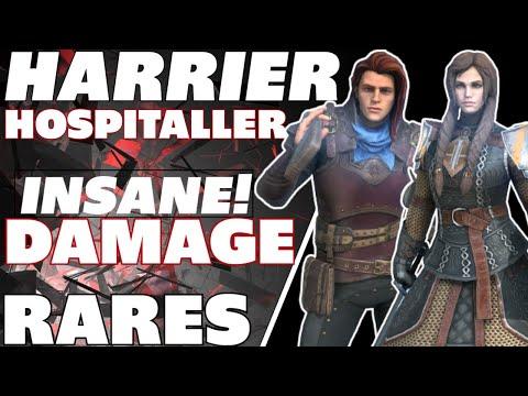 HARRIER + HOSPITALLER= Team insane rares! Raid shadow legends Maxed Harrier maxed hospitaller